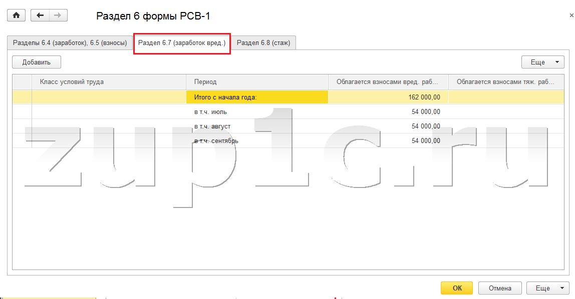 Подготовка отчетности в ПФР с использованием программы 1С ЗУП 3.0